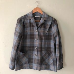 Pendleton 49er Blue Gray Plaid Jacket